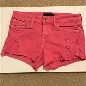 Pink Juicy Jean Couture Jean Shorts